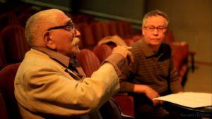 На репетиции в театре, фото из личного архива Максима Васюнова.