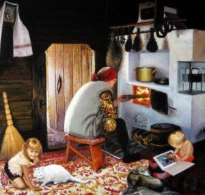 В деревенском доме