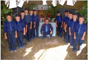 Ученики в детском летнем лагере «Русь»