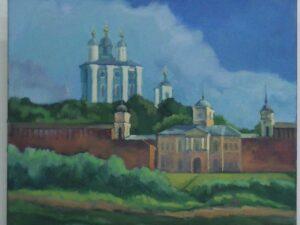 Смоленск. На берегу Днепра. Успенский собор.