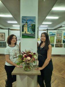 Флорист Яна Логвинова и Ольга Биценти.
