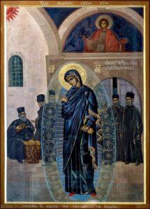 Икона Богородицы Светописанная (Светописанный образ)